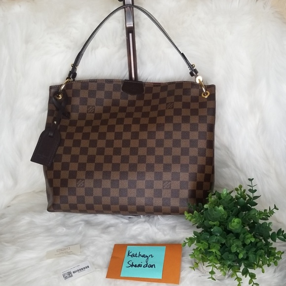 Louis Vuitton Handbags - EUC LOUIS VUITTON GRACEFUL PM DAMIER EBENE  SD4187